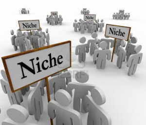 16515451-several-groups-of-people-in-niche-markets-gathered-around ...