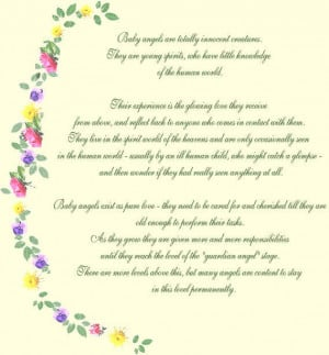 Sayings Baby Angel Poem Picture By Wvannabanana Photobucket
