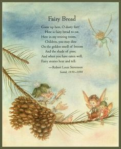 fairy bread poem for kids more louis stevenson for kids fairies poems ...
