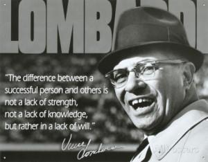 Vince Lombardi Successful Person Quote Sports Tin Sign