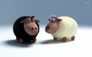 Funny Black Sheep Quotes Black and white sheep