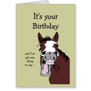 Funny Horse Birthday Cartoon Romantic Silly Cards