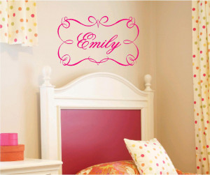 Vinyl Wall Monograms / Personalized Quotes