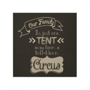 Funny Family Quote Chalkboard Art Wood Wall Art