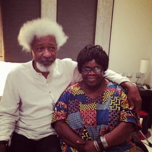 Ama Ata Aidoo with Prof Wole Soyinka.
