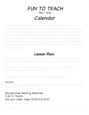 Month Calendar Template