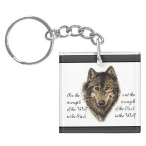Wolf Family Quote and add your Custom Photo on back
