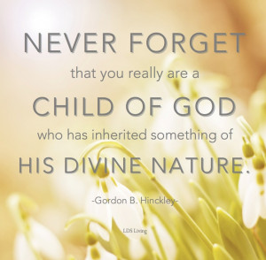 ... God who has inherited something of His divine nature.