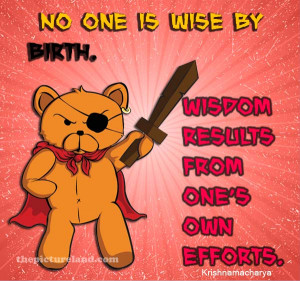 Sayings About Wisdom And Wise With Bear With Sword Picture