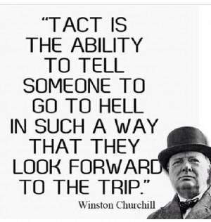 Winston Churchill on the word tact.