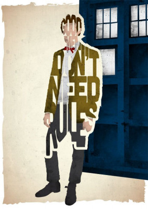 Doctor Who typography print based on a quote from the TV series Doctor ...