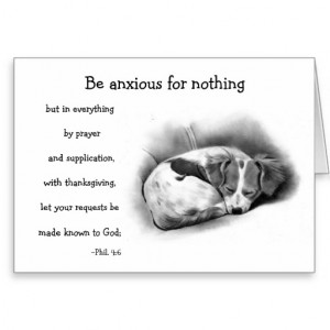 BIBLE VERSE, ANXIETY, COMFORT: PENCIL ART:puppy Greeting Cards
