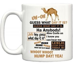 Hump Day Quote Camel Coffee Mug - TeeShirtPalace