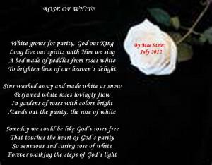 White Rose Love Poem