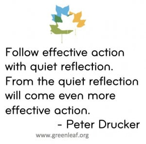 Peter Drucker quote on the balance and dance that great leaders do. In ...