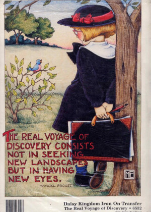 ... Voyage of Discovery' Proust Quote Full Color Iron On Transfer--9 x 11