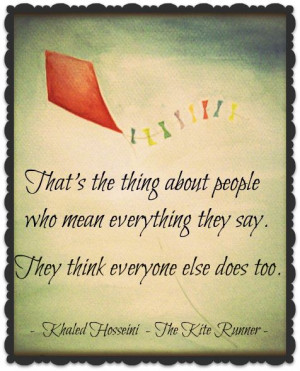 kite runner quotes about assef The kite runner wednesday, 21 march 2012 assef the kite runner is based on the nature of human evil during week 2 l, we learned about adolf eichmann who was a member of the ss he.