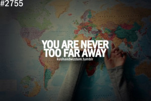 blue, colors, far away, green, kushandwizdom, love, map, perple, quote ...