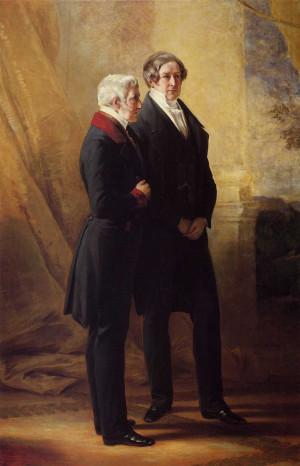 Arthur Wellesley, 1st Duke of Wellington with Sir Robert Peel Franz ...