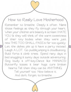 Weekend Inspiration: How to Really Love Parenthood