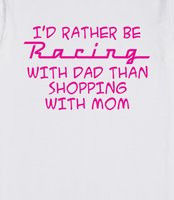 ... shopping with mom. Cute racing shirts for girls who love car racing