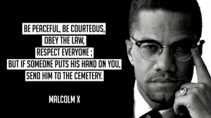 One of my favourite quotes by Malcolm X amidst the civil rights