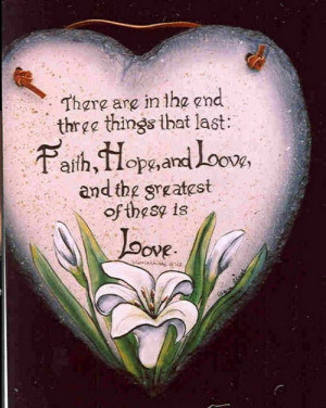 bible quotes on faith hope and love