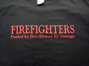 Firefighter Girlfriend Sayings Firefighter t-shirt, fueled by