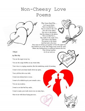 Non-Cheesy Love Poems