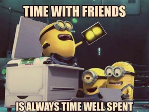... image include: friends, friendship, despicable me, minion and minions