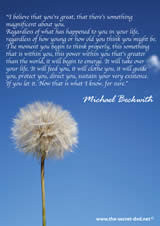 Michael Beckwith Quote from The Secret