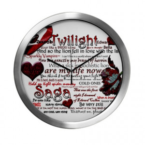 ... In Love With The Lamb Living Room > Twilight Quotes Modern Wall Clock