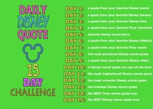 Day 1: a quote from your favorite Disney movie