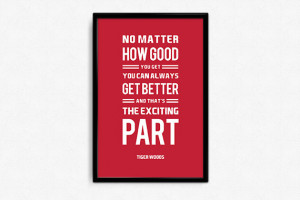 Tiger Woods Inspirational Exciting Part Quote Poster Print | Mancave ...