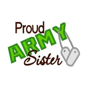 Proud Army Sister