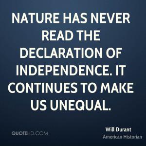 Will Durant Nature Quotes