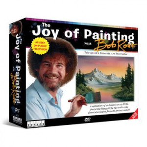 ... famous quotes and great painting techniques of Bob Ross with us! #