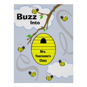 Teacher Classroom Poster Bees And Bee Hive From Zazzle