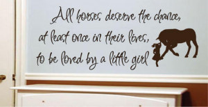 ... Decal Quote Vinyl Love Horse Girls Western Decor Wall Quote Decal Art