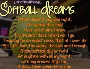 Softball Team Quotes Tumblr Softball quotes