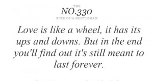 Love is like a wheel – Tips & Rules Quote