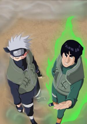 Kakashi And Guy Teamwork...