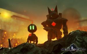 my robot characters, Razor & Scrap, in the Metal World 3D environment ...