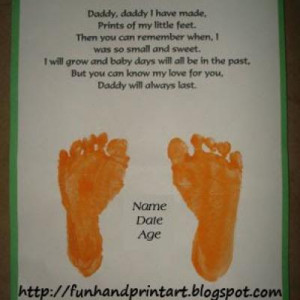 Footprints For Dad Father Poem