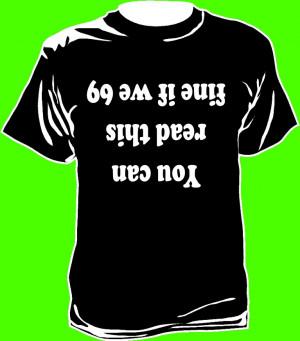 shirt humoristique 69 anglais