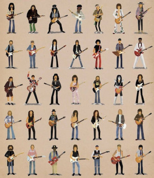 Can You Name All the Famous Guitarists in this Poster?