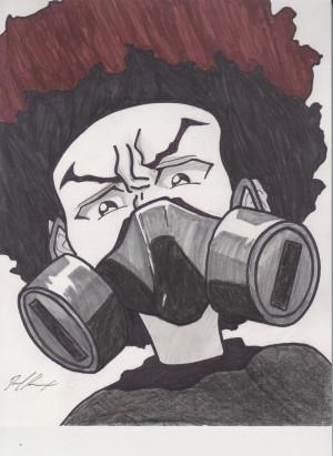 Huey Freeman: Gas-mask by 1BetaOne