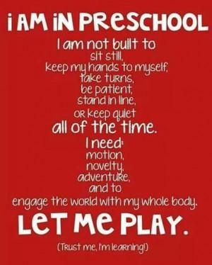 Preschool quote