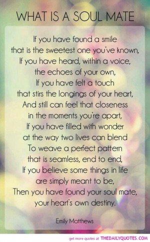 These are the famous quotes about soul mates great Pictures