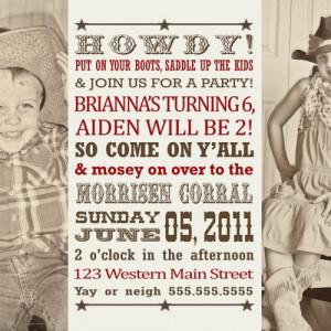 cowboy cowgirl invitation western party | invitingprintables - Digital ...